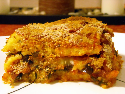Polenta eggplant lasagna | Blooming Vegan