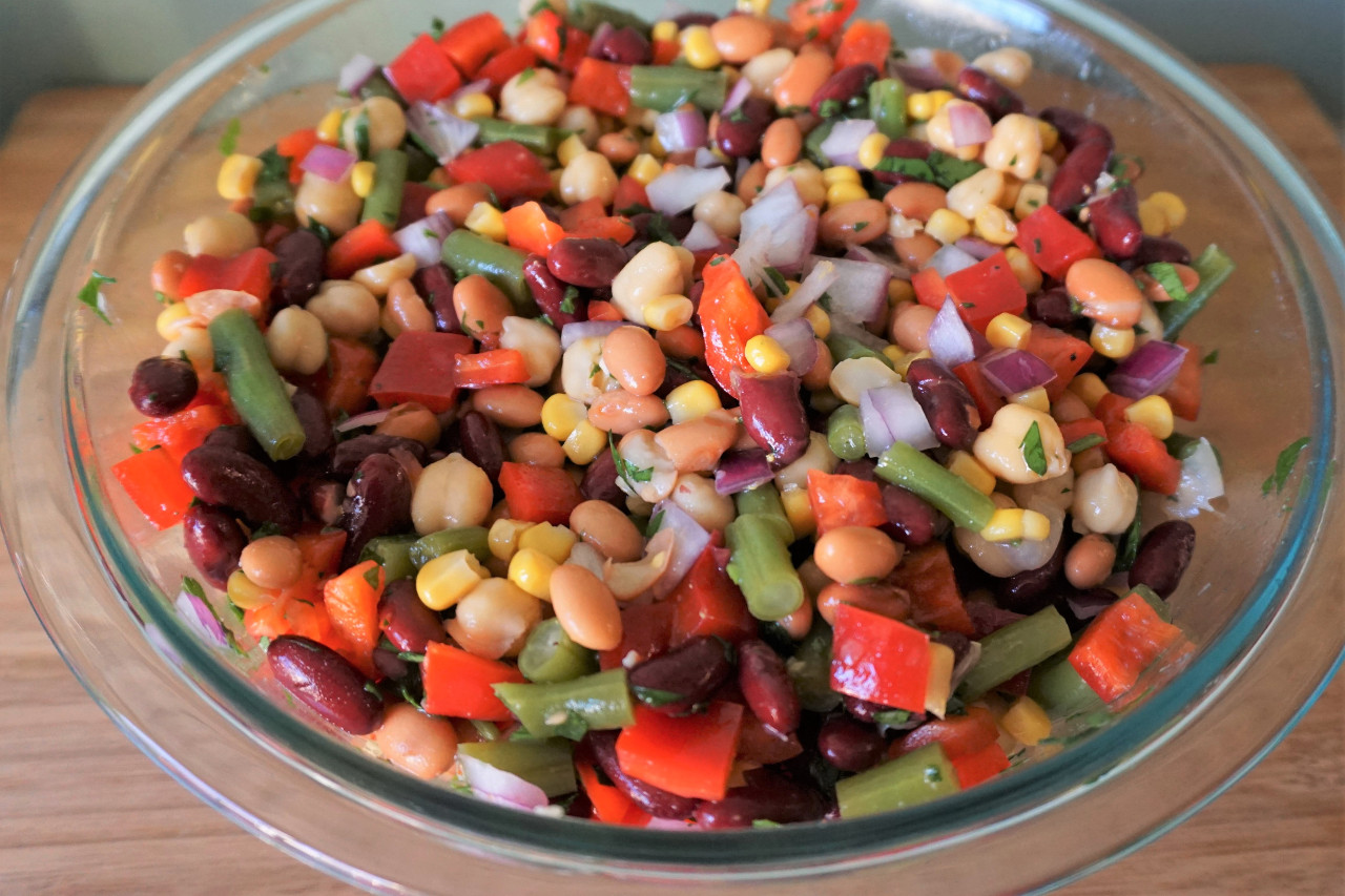 Four Bean Salad | Blooming Vegan