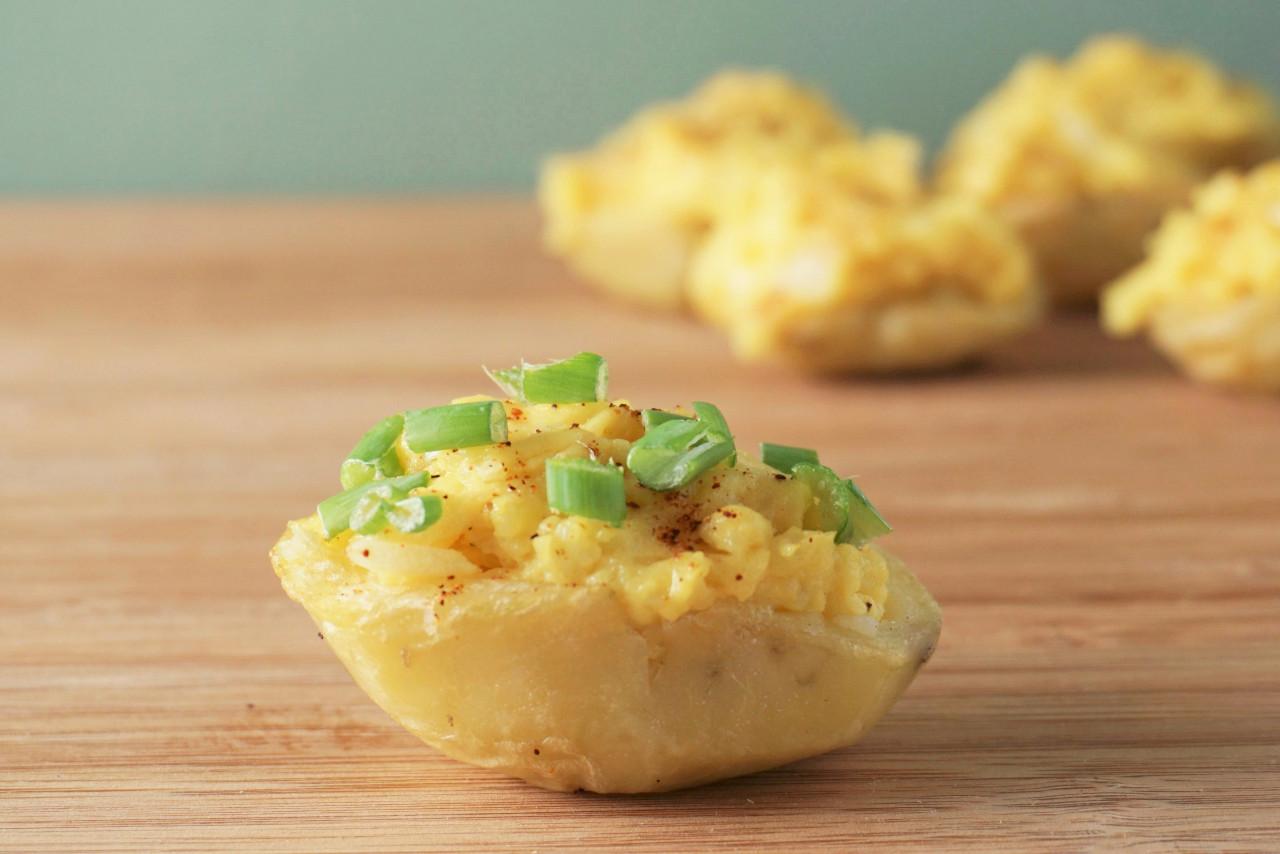 Deviled Potatoes   Blooming Vegan