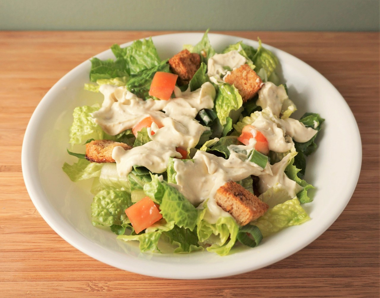 Vegan Chick'n Caesar Salad | Blooming Vegan